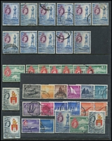 Lot 80 [3 of 4]:Singapore 1948-97 Collection on 60+ Hagners incl duplicated range of KGVI defins incl P14 (2 sets plus $2 (2), $5 (3)), P17½x18 incl 12c (4), 1948 Wedding, 1955-59 QE Picts (3 sets, plus many odd values), 1959 Constitution (2 sets), 1962-66 Picts (2 sets), 1968-73 Picts range to $10 (2, plus various perf changes or glazed papers incl 10c (5)), 1980 Ships incl $5 (7), $10 (2), 1980-85 Insects, commems incl 1976 Orchids (2 sets), Paintings (6 & M/S). Etc. (100s)