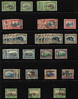 Lot 44 [3 of 3]:South West Africa 1923-54 collection incl few earlies, 1927 opt pairs to 1/-, 1931 Picts seven pairs to 1/-, 3d Airmail pair, selection of Bantams, few Officials, etc, STC £150. (150+)