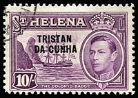 Lot 88 [1 of 4]:Tristan Da Cunha 1952-67 Collection incl 1952 Defins (12), 1954 Picts (14), 1960 Fish (14), 1963 Re-settlement (13), 1965 Ships (14), plus 1953 commems to 1967 Calcott Harbour, all fine used, Cat £230+. (100+)