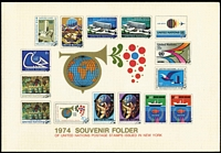 Lot 96 [3 of 4]:United Nations 1964-94 range incl various Souvenir cards, packs, M/Ss, FDCs, covers, few stationery items, etc, from New York, Geneva & Vienna. (Approx 100 items)