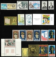 Lot 91 [2 of 3]:World incl Argentina, Belgian Congo, Bulgaria 1912 Tsar's Jubilee (3), Burma few KGVI Officials, Iran, Indonesia 1949 'Merdeka/Djokjakart/6 Djuli 1949' Opts range, Lithuania, Mali, New Caledonia 1972 UNESCO Save Venice sheet of 10 (MUH), 1993 Officials (10), Palau, Poland, Romania etc. Also selection of General De Gaulle issues. (100s)