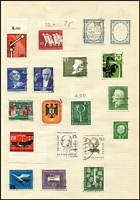 Lot 104 [3 of 3]:World in 6 albums with Central & South America, Ceylon KEVII 2.25r, Czechoslovakia, France 1946 Relief Fund, & Colonies, GB, Germany incl Berlin, India KGV 25r, selection of Azad Hind issues, Israel, Italy 1948 St. Catherine 200l, Monaco, Russia, Scandinavia, Switzerland, UN, USA, Vatican also a 1945-46 Victory range, few perfins. Generally fine. HEAVY LOT (7kg). (1,000s)