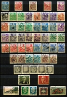 Lot 111 [2 of 4]:World in 2 Albums incl Argentina, China, France 1949-50 1,000f Air (fault), good selection of French Colonies, Germany, Greece, Italy, Netherlands, Portugal, USA, few perfins throughout. Mixed condition. (100s)