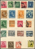 Lot 111 [3 of 4]:World in 2 Albums incl Argentina, China, France 1949-50 1,000f Air (fault), good selection of French Colonies, Germany, Greece, Italy, Netherlands, Portugal, USA, few perfins throughout. Mixed condition. (100s)