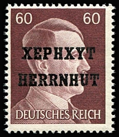 Lot 1542 [1 of 2]:1945 (22 May) Herrnhut (Oberlausitz): Complete set with all non-expended values, including the rare Mark values. Each with guarantee handstamp on reverse. Cat €14,000 (Approx). (26)