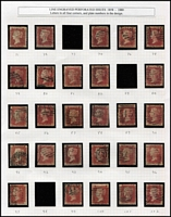 Lot 434 [2 of 2]:1864-79 1d Reds neatly arranged selection from Pl 71 to Pl 222. (ex Pl 77 !!!, and several other plates). Generally fine. (136)