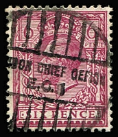 Lot 1394 [3 of 7]:1912-24 Wmk Royal Cypher 6d P14 Reddish-Purple four presentable examples. cat £440+.