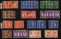 Lot 442 [2 of 5]:1953-70 Accumulation incl many better early QE commmems, some phosphor issues included and many early Wilding defins, few wmk varieties, 1957-59 range of graphite or phos-graphite issues, Castles incl 1955-58 (6 sets and many odd values), later Castles incl many sets, few Regionals. (100s)