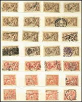 Lot 418 [2 of 2]:KEVII-KGV Accumulation with KEVII ½ds & 1ds (many), 6d purple (18),1/- (35), 2/6d (4), 5/- (4), KGV numerous low values to 1/- (95+), 1913-19 Seahorse 2/6d (2), 1924 Wembley (5 sets plus 4 additional 1ds), 1929 PUC (12 sets to 2½d plus many other values), 1934 2/6d (26), 5/- (4), 1935 Jubilee (4 sets) etc. Mixed condition. (100s)