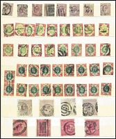 Lot 418 [1 of 2]:KEVII-KGV Accumulation with KEVII ½ds & 1ds (many), 6d purple (18),1/- (35), 2/6d (4), 5/- (4), KGV numerous low values to 1/- (95+), 1913-19 Seahorse 2/6d (2), 1924 Wembley (5 sets plus 4 additional 1ds), 1929 PUC (12 sets to 2½d plus many other values), 1934 2/6d (26), 5/- (4), 1935 Jubilee (4 sets) etc. Mixed condition. (100s)