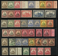Lot 381 [2 of 2]:1901-19 Yacht Collection incl Yachts to 5m simplified, 1901 mint range incl 20pf (3), 25pf, 30pf, 40pf (2), 50pf, 80pf (4), used incl 25pf, 30pf, 40pf & also MLH 1914-19 3pf (2), 5pf & 10pf (3). Generally fine. (42)