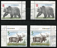Lot 481 [2 of 4]:1980s-2000s Recent group of commems & defins incl values to $5 (2), $10, few M/Ss and range of imperf 2001 QEII 75th Birthday issues (mixed condition), also Canada $5 Moose (2), $8 Bear (2), etc. Generally fine. (100+)