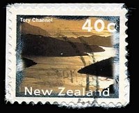 Lot 430 [3 of 5]:1996 Scenery 40c with Marlborough Sounds omitted (5, incl one on part booklet pane MUH, 4 on pieces), SG #1986ba, Cat £200. (5 items)