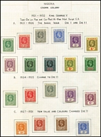 Lot 1609 [2 of 3]:1921-32 Wmk Mult Script CA ½d to 10/- set with all Die I & Die II issues plus colour changes. SG #15-29a, Cat £440+. (29)