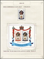 Lot 22 [6 of 7]:British Commonwealth 1977 Silver Jubilee 32 MUH sets in special album plus 26 sets on album pages with M/Ss (most M/Ss are MUH). (100s)