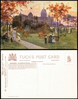 Lot 198 [2 of 3]:Australia - Victoria: six different cards from Tuck's Oilette Wide World series No 7292, includes St. Paul's Cathederal before the spire was built. Unused. (6)