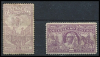 Lot 346:1900 Anglo-Boer War Charity Pair 1d minor thin, some mild toning, Cat £460. (2)