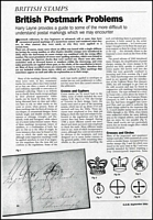 Lot 43 [1 of 2]:Great Britain: Photocopied articles in 2 folders, many for Gibbon's Stamp Monthly, all relating to British stamps from Queen Victoria to KGV, also another album of similar items for British Commonwealth countries. Plus photocopy of 'Undercover Addesses of World War II'. Hours of interesting reading. (3kg)