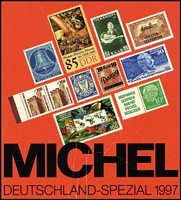 Lot 44 [2 of 2]:Michel Catalogues: Europa West 1995-96 (A-L & M-Z), Deutschland-Spezial 1997, Schweiz/Liechtenstein-Spezial 1998. German text. Well used editions. (4kg+). (4)