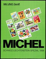 Lot 44 [1 of 2]:Michel Catalogues: Europa West 1995-96 (A-L & M-Z), Deutschland-Spezial 1997, Schweiz/Liechtenstein-Spezial 1998. German text. Well used editions. (4kg+). (4)