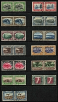 Lot 1626 [2 of 2]:1931 Pictorials incl Airs (14 pairs), SG #74-87, Cat £300. (28)
