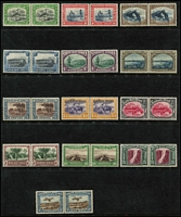 Lot 1625 [2 of 2]:1931 Pictorials set incl Airs (14 pairs). SG #74-87, Cat £225. (28)