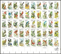 Lot 465:1982 State Birds & Flowers sheet of 50 in sealed PO packet, plus 1982 & 84 commems all with special books. (3 books)