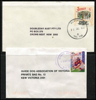 Lot 326 [3 of 3]:1980-90s Datestamp Postmarks many Guide Dog & Doubleday covers. Little or no duplication. (Approx 770)