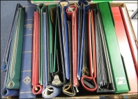 Lot 151:Box of old Springback albums, etc. Mixed condition. 12 kg. (19)
