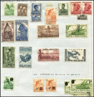 Lot 357 [1 of 5]:Norfolk Island 1947-80s Collection on leaves incl 1947 Ball Bay (12), New Colours (2), 1953 Picts (6), 1960 Picts (13), Local Gov't 2/8d, and most issues to 1982, Papua New Guinea on leaves incl 1952 Map 10/-, 1958-60 1/7d Cattle, 1964-65 Birds, many later commems & defins, 1960 (June) Postage Dues (8). Generally fine. (Approx 300)