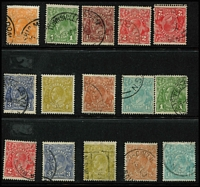Lot 166 [2 of 5]:1913-71 Accumulation incl few Roos to 3rd Wmk 2/- brown, KGV Heads incl 4d orange (3), 5d brown (5), 1/4d (4), also 1971 Christmas with many singles crammed into 4 Hagners all used and 1966 Navigators (MUH) incl 75c block of 4 & strip of 4, $1 2 strips of 5, $2 block of 4, $4 pair. (100s)