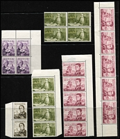 Lot 166 [3 of 5]:1913-71 Accumulation incl few Roos to 3rd Wmk 2/- brown, KGV Heads incl 4d orange (3), 5d brown (5), 1/4d (4), also 1971 Christmas with many singles crammed into 4 Hagners all used and 1966 Navigators (MUH) incl 75c block of 4 & strip of 4, $1 2 strips of 5, $2 block of 4, $4 pair. (100s)