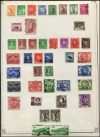 Lot 260 [3 of 6]:1913-54 Collection incl various Roos to CofA 5/-, KGV Heads to 1/4d (2), plus a selection of lower values, some with varieties, some perf 'OS', also 1934 Vic Centenary (3), Macarthur (3), 1935 ANZAC (2), Jubilee 2/- (MLH), 1937 NSW Sesqui (3 mint) few later. Mostly used. Mixed condition. (150+)