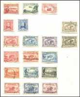 Lot 262 [2 of 4]:1913-65 Accumulation in sparsely filled 32 page Lighthouse album incl few Roos to 5/-, KGV Heads various to 1/4d, commems incl 1935 Jubilee (3), Arms £2 (3), few Postage Dues, perf 'OS' & optd 'OS' issues. Mixed condition. (Few 100)