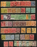 Lot 166 [1 of 5]:1913-71 Accumulation incl few Roos to 3rd Wmk 2/- brown, KGV Heads incl 4d orange (3), 5d brown (5), 1/4d (4), also 1971 Christmas with many singles crammed into 4 Hagners all used and 1966 Navigators (MUH) incl 75c block of 4 & strip of 4, $1 2 strips of 5, $2 block of 4, $4 pair. (100s)