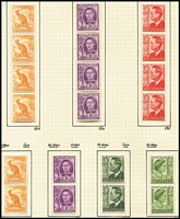Lot 170 [3 of 3]:1937-78 Collection on leaves incl KGVI coil pairs, range of later issues incl 1965 5d green Queen block of 9 with 3 imperf between pairs & strip of 3 imperf at right, and block of 6 with 3 units imperf between, 1971 Christmas block of 25 (2 units MLH), etc. (350+)