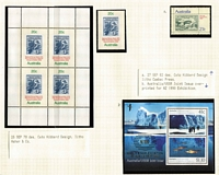 Lot 171 [5 of 7]:1953-90s Collection thematically arranged (birds, Christmas, flight, marine life, reptiles, sport, etc) incl 1969 Flight block of 9, 1990 Aust/USSR Joint issue M/S optd 'NZ 90'. Face value of Decimal issues $150+. (480+ & 8 M/S)