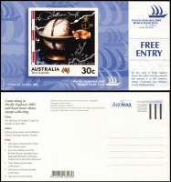 Lot 146 [1 of 8]:1990s-2000s Australia Post duplicated array of 'POSTAGE PAID' Exhibition invitations, Pre-Paid Postcards, etc, all unused. (100s)