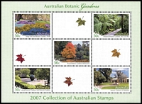 Lot 240 [1 of 4]:2005 Parrots 2006 QEII 80th Birthday (2) & 2007 Botanic Gardens sheetlets all from Year Books. Retail approx $200.