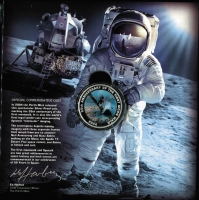 Lot 236 [3 of 3]:2007 Blast Off! 50 Years in Space in special folder with Space M/S (Limited edition 228 of 1,000 - individually numbered), also includes world's first Space 2004 Silver Proof coin incorporating dynamic 'lenticular' imaging. Retail $250.