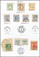 "Lot 1324 [3 of 3]:Beirut: 1870-1909 incl 1870 entire to Trieste (b/s), endorsed ""Col Vapore Austriaco"" & ""franco"" alongside mixed franking 5s & 10s, 1902 registered to Leeds (b/s) with 1pi on 25 (3), 1909 PPC to USA franked wih 20pa Accession, along with a selection of adhesives with various 'Beirut' cancels. (10 stamps & 4 covers)"