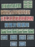 Lot 381 [3 of 4]:1850s-1953 Collection on 29 Hagners incl good selection of QV incl 1897 Jubilee 1c (6), 2c (4), 3c (5), 5c (4), 6c, 8c (2), 10c, 15c, 20c & 50c (2), (total Cat £890), 1908 Quebec various to 10c, 20c, 1927 Confederation (5 sets), 1928-29 Picts (3 sets plus 2 additional 50c Bluenose), 1935 Jubilee (6 sets), 1937-38 Picts (5 sets), 1942-48 War Effort (3 sets), 1946 Peace (6 sets), Special Delivery issues, Postage Dues, Officials optd 'G' or perf 'OH/MS', few Bill stamps, coils, pre-cancels, etc. Condition of earlies a little mixed, nevertheless a very desirable lot. (100s)