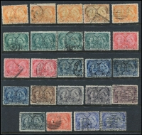 Lot 381 [1 of 4]:1850s-1953 Collection on 29 Hagners incl good selection of QV incl 1897 Jubilee 1c (6), 2c (4), 3c (5), 5c (4), 6c, 8c (2), 10c, 15c, 20c & 50c (2), (total Cat £890), 1908 Quebec various to 10c, 20c, 1927 Confederation (5 sets), 1928-29 Picts (3 sets plus 2 additional 50c Bluenose), 1935 Jubilee (6 sets), 1937-38 Picts (5 sets), 1942-48 War Effort (3 sets), 1946 Peace (6 sets), Special Delivery issues, Postage Dues, Officials optd 'G' or perf 'OH/MS', few Bill stamps, coils, pre-cancels, etc. Condition of earlies a little mixed, nevertheless a very desirable lot. (100s)