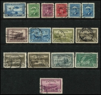 Lot 345 [2 of 4]:Back of the Book Selection incl Registration labels 1875-92 2c (3), 5c (5), Special Delivery 1898-1920 10c green (4), 1922 20c (3), 1927 20c Mail Carriers (2), 1930 20c (2),1932 20c (4), 1935 20c (2), 1939 10c green (2), 10c on 20c, 1942-43 War Effort 10c Arms (3), 16c (2), 17c (4), 1946 10c Arms (4), 17c (2), Officials perf 'OH/MS' incl Peace $1 Ship, Optd 'O.H.M.S.' or 'G' incl 1951 $1 Fisherman, 1953 $1 Totem, etc. Cat £400+. Fine lot. (120+)