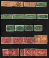 Lot 345 [3 of 4]:Back of the Book Selection incl Registration labels 1875-92 2c (3), 5c (5), Special Delivery 1898-1920 10c green (4), 1922 20c (3), 1927 20c Mail Carriers (2), 1930 20c (2),1932 20c (4), 1935 20c (2), 1939 10c green (2), 10c on 20c, 1942-43 War Effort 10c Arms (3), 16c (2), 17c (4), 1946 10c Arms (4), 17c (2), Officials perf 'OH/MS' incl Peace $1 Ship, Optd 'O.H.M.S.' or 'G' incl 1951 $1 Fisherman, 1953 $1 Totem, etc. Cat £400+. Fine lot. (120+)