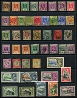 Lot 408 [3 of 4]:1860s-1960s Collection incl 18561-64 5d, 1863-70 9d, few opts, KEVII various to 1r50, KGV 1912-25 5r, 20r both with 'GALLE/C' cds, 'pair as is', 10r with 'NUWARA ELIYA' cds, (Cat approx £300), 1927 1r, 2r, 5r, 10r (fiscal), 1935-36 Picts (11), KGVI 1938-49 Picts (14), 1951-54 Picts (12), 1958-62 Picts (17), various commems, Fiscals incl 1862 'Draft Order Receipt' on private roulette QV 1d blue, 1938 10r 'Revenue'. High catalogue value. Generally fine. (200+)