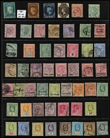 Lot 408 [1 of 4]:1860s-1960s Collection incl 18561-64 5d, 1863-70 9d, few opts, KEVII various to 1r50, KGV 1912-25 5r, 20r both with 'GALLE/C' cds, 'pair as is', 10r with 'NUWARA ELIYA' cds, (Cat approx £300), 1927 1r, 2r, 5r, 10r (fiscal), 1935-36 Picts (11), KGVI 1938-49 Picts (14), 1951-54 Picts (12), 1958-62 Picts (17), various commems, Fiscals incl 1862 'Draft Order Receipt' on private roulette QV 1d blue, 1938 10r 'Revenue'. High catalogue value. Generally fine. (200+)