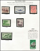 Lot 361 [1 of 3]:1963-91 Collection on Seven Seas hingeless pages almost complete (ex 1987 America's Cup M/S, 1990 NZ Stamp Exhibition (both), $5 Airmail stamp & 1991 opts (7)). (Approx 200)