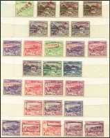 Lot 4 [3 of 4]:Bangladesh 1947-70s range with Indian adhesives optd PAKISTAN and additionally diagonally handstamped in English or Bengali with 'BANGLADESH', also a selection of Pakistan stamps with similar opts & handstamps in capitals, upper & lower case, italics. Inks incl green, red, violet, etc. Many multiples. Mostly MUH. (100s)