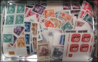 Lot 4:Bohemia & Moravia 1939-44 Accumulation incl imperf issues, Newspaper stamps, Officials, blocks of 4, gutter strips, etc. (100s)